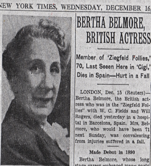 Bertha Belmore New York Times