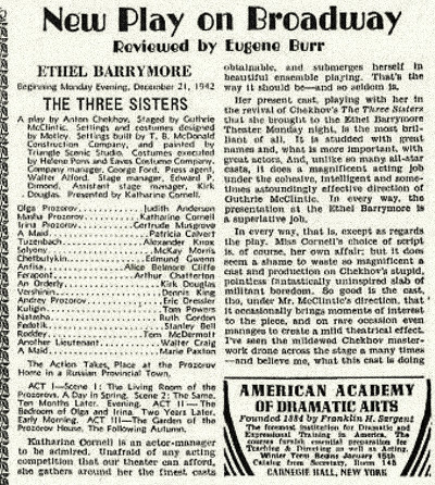 Three Sisters Ethel Barrymore