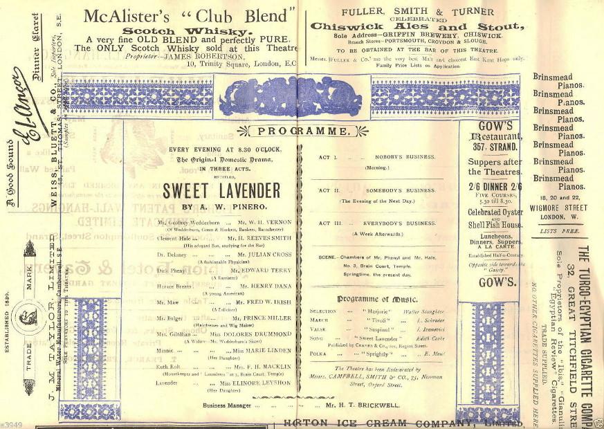 George Belmore Sweet Lavender inside