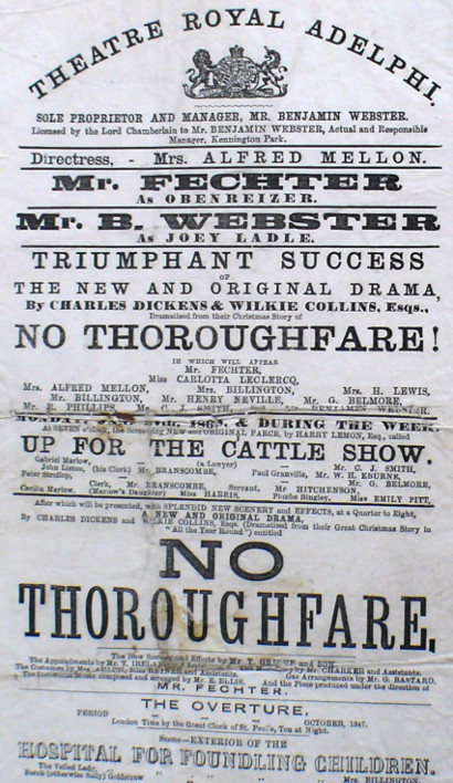 George Benjamin Belmore No Thoroughfare 1868