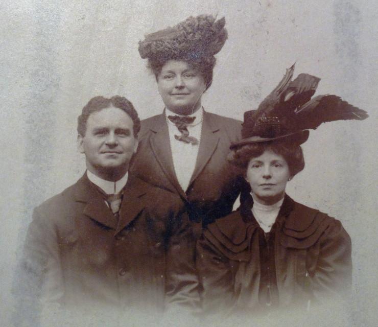 Lionel Belmore, Alice Belmore Cliffe, and Emmeline Carder