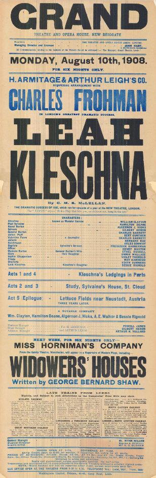 Gilbert Heron Leah Kleschna 1908