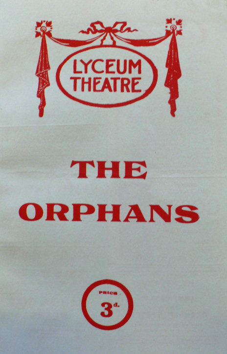 jessie belmore the orphans 1923 programme front cover