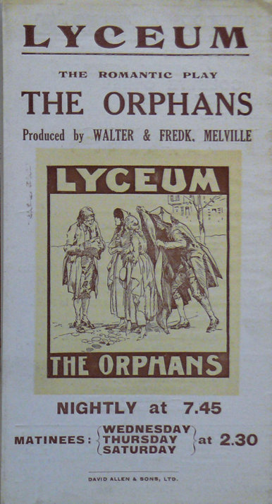 jessie belmore the orphans handbill