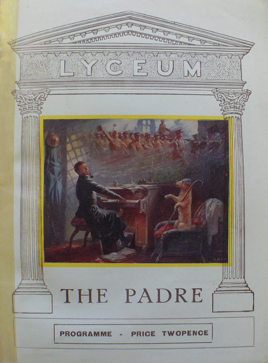 jessie belmore the padre 1926 programme front