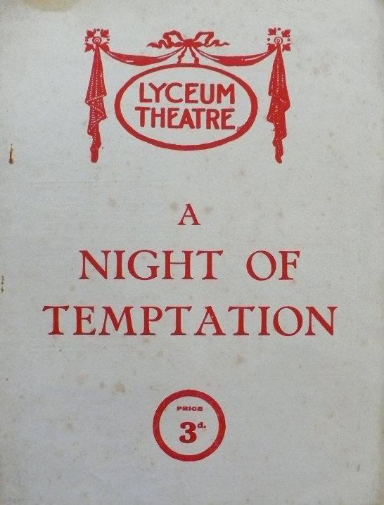 jessie belmore in a night of temptation april june 1923 front the programme