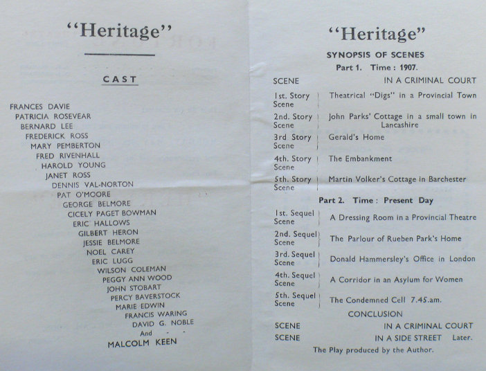 jessie george belmore in heritage july 1932 written by j o twiss programme