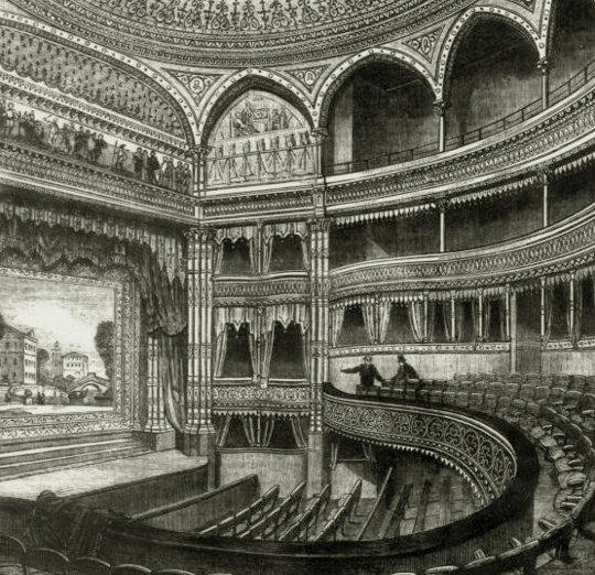 Interior Gaiety Theatre 1868