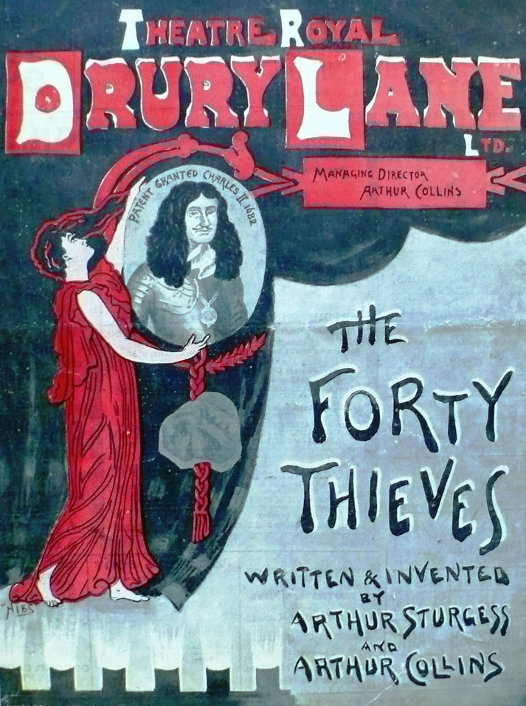 Lille Belmore Forty Thieves Drury Lane Theatre programme