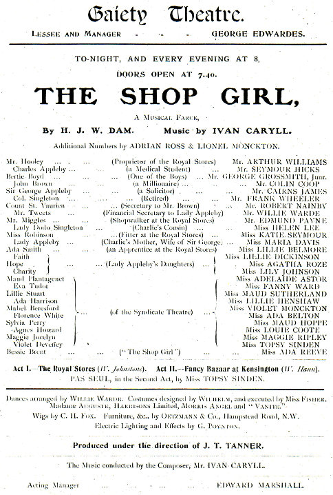 Lillie Belmore the shop girl
