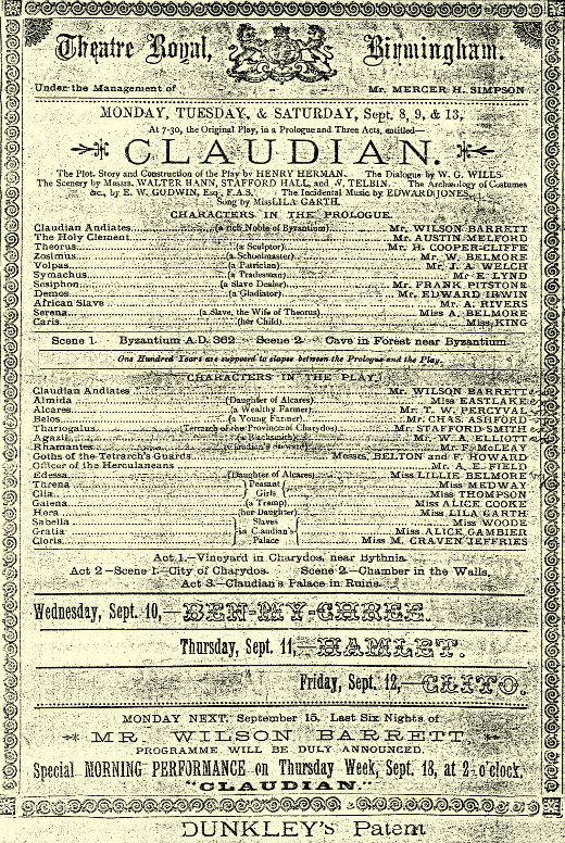 Lillian Belmore Claudian
