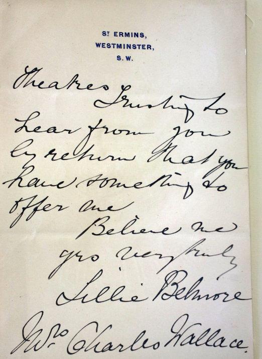 letter Lillian Wallace