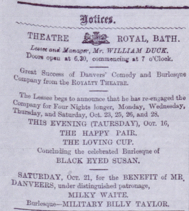1871 october 19 bath chronicle Edwin Danvers Edwin